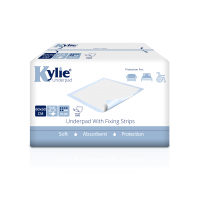 Kylie® Disposable Underpads With Fixing Strips | 60 x 60cm