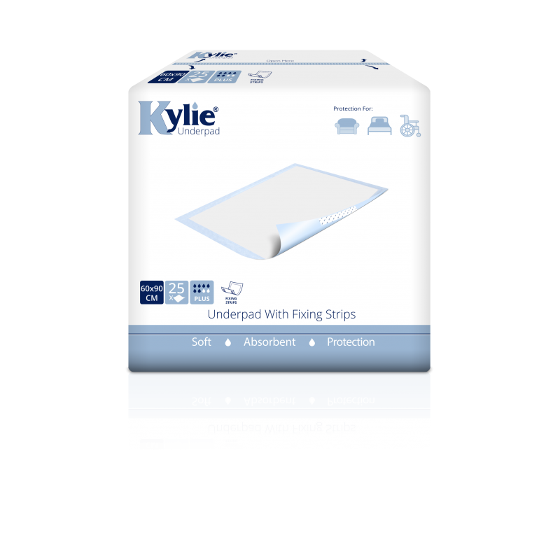 Kylie® Disposable Underpads With Fixing Strips | 60 x 90cm